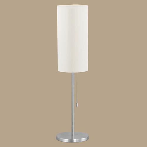 Настольная лампа  82804 EGLO Tube 1х60Вт Е27 алюм/бежевый-ткань.