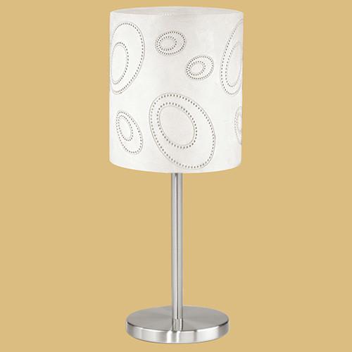 Настольная лампа 89216 EGLO Indo 1х60Вт E27 никель-мат./бежевый