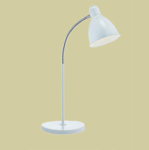 Настольная лампа Markslojd Nitta 105129 1х60Вт E27 белый/металл