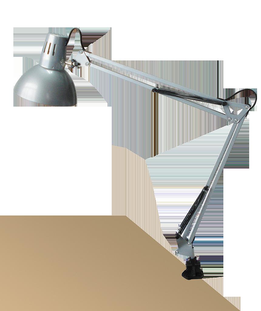 Настольная лампа Rabalux Arno 4216 1х60Вт E27 серебро/металл