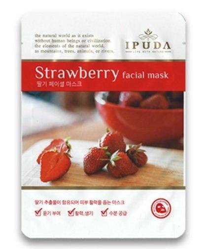 Тонизирующая тканевая маска для лица с экстрактом клубники EYENLIP IPUDA Facial Mask Strawberry