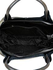 Женская сумка кожаная классическая. Натуральная кожа 37*25*14см. Серый, фото 3