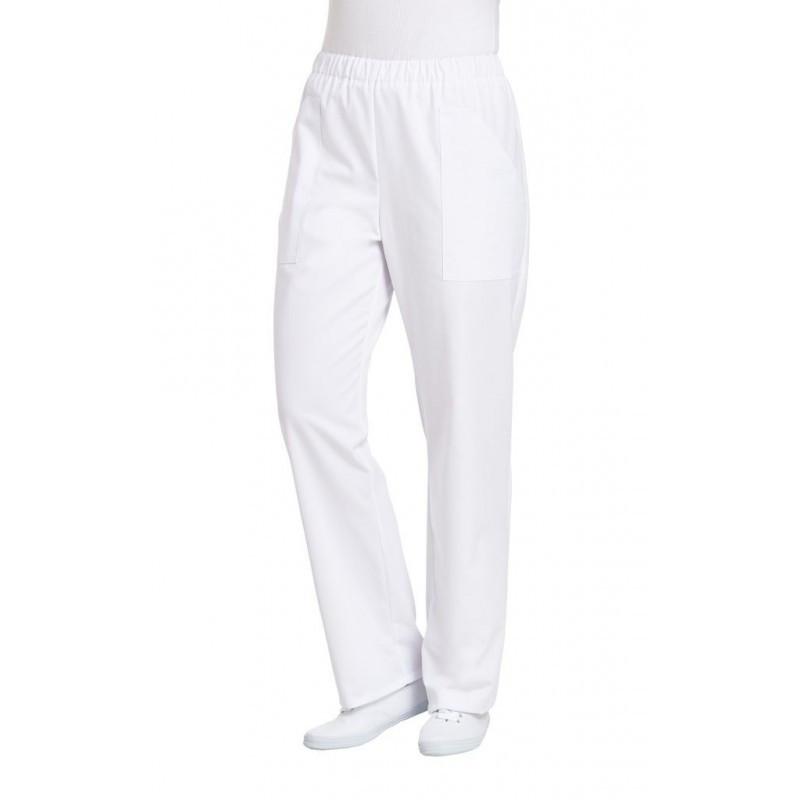 Штаны поварские / медицинские белые на резинке белые с карманами Atteks - 01901