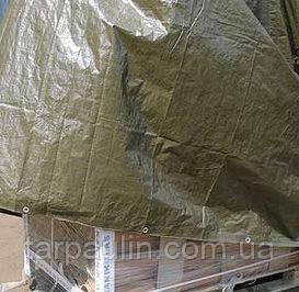 Тент Тарпаулин  100 г/м2 зеленый 8х12 м.