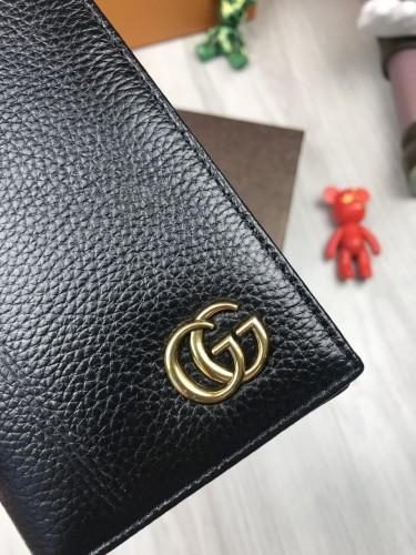 eb39a67162be Трендовый кожаный клатч Gucci GG черный кошелек натуральная кожа мужской  женский ...