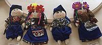 """Іграшка сувенірна ручної роботи """"Українка Дівчинка"""" 15-20 см"""