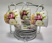 """Набор чайный ТМ Оселя 22-22-007 """"Белые цветы"""" 13 предметов, фото 1"""
