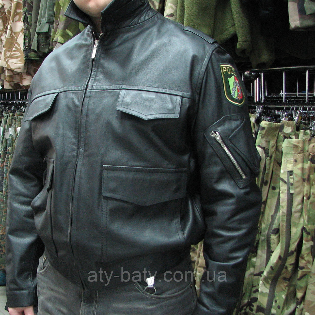 Куртка кожаная полицейская, Германия.