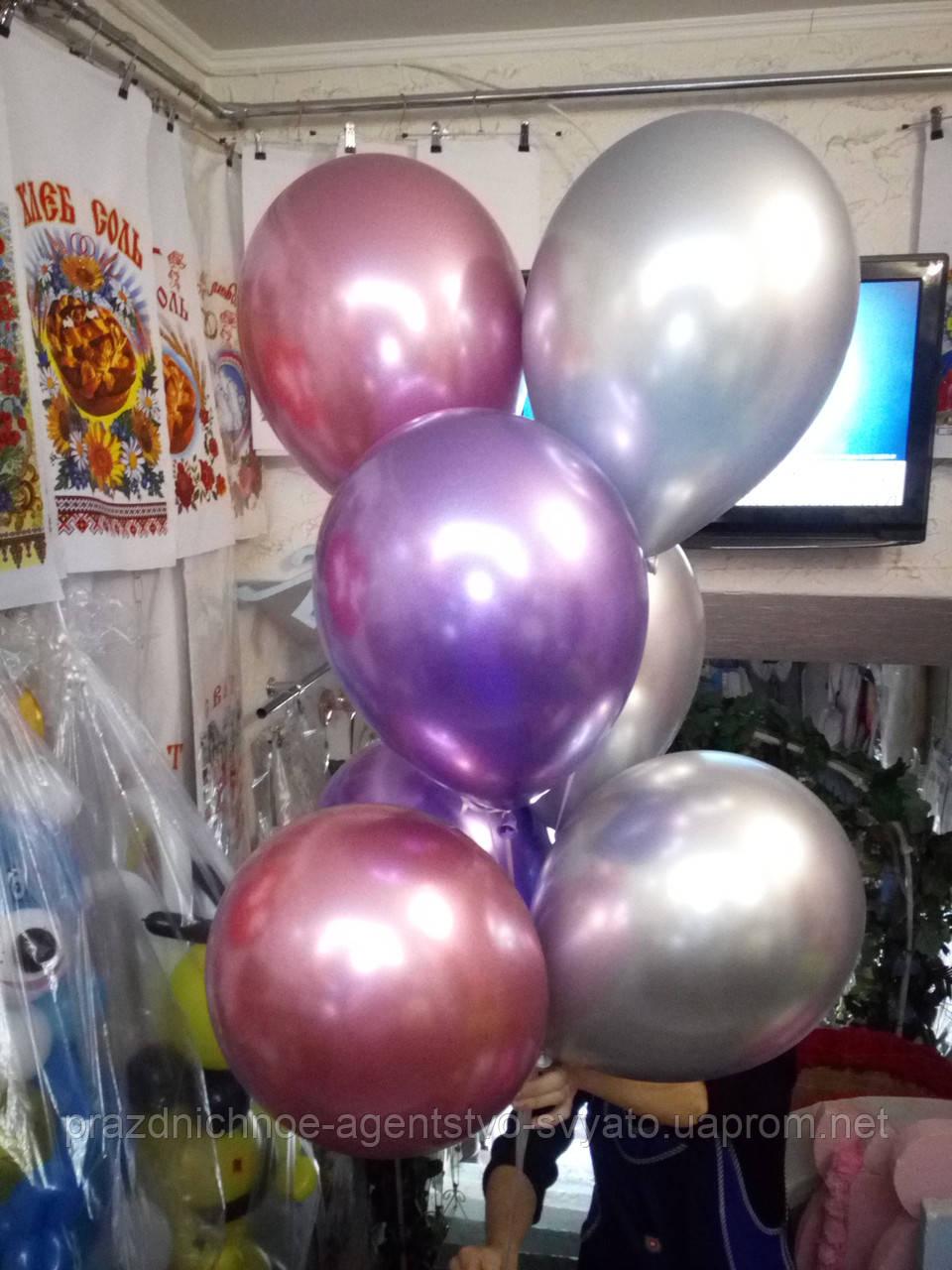 Хромовые шары с гелием