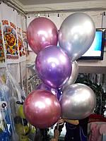 Хромовые шары с гелием, фото 1