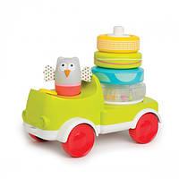 Развивающая машинка с пирамидкой Taf Toys Совушка-малышка 2в1 11945 605566119458