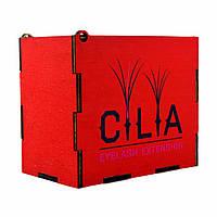 LashBox Для Ресниц Cilia [RED] (Лэшбокс С 5 Планшетками)