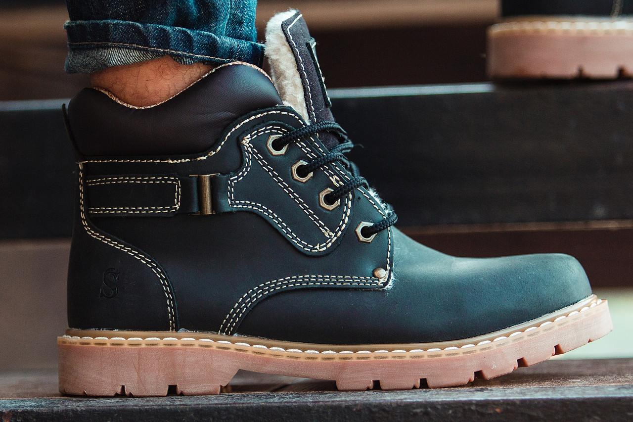 Ботинки Мужские Зимние South walker black чёрные, оригинал