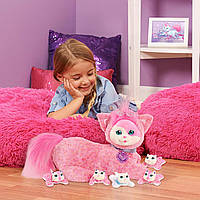 Беременная кошка Джиджи с сюрпризом розовая Kitty Surprise Plush Gigi