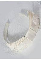 Свадебная вуалетка с бантиком