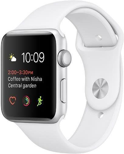 Apple Watch Series 2 38 mm Silver Aluminium Case with White Sport Band (MNNW2)