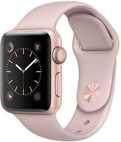 Apple Watch Series 2 38 mm Rose Gold Aluminium Case with Pink Sport Band (MNNY2)