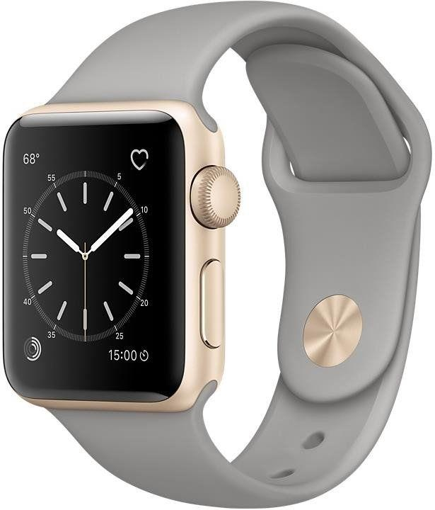 Apple Watch Series 2 38 mm Gold Aluminium Case with Concrete Sport Band (MNP22)
