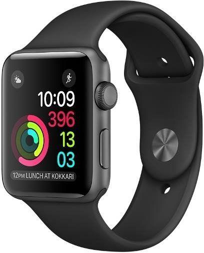 Apple Watch Series 2 42 mm Space Gray Aluminium Case with Black Sport Band (MP062)