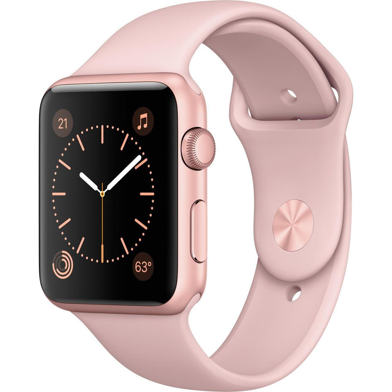 Apple Watch Series 2 42 mm Rose Gold Aluminium Case with Pink Sport Band (MQ142)