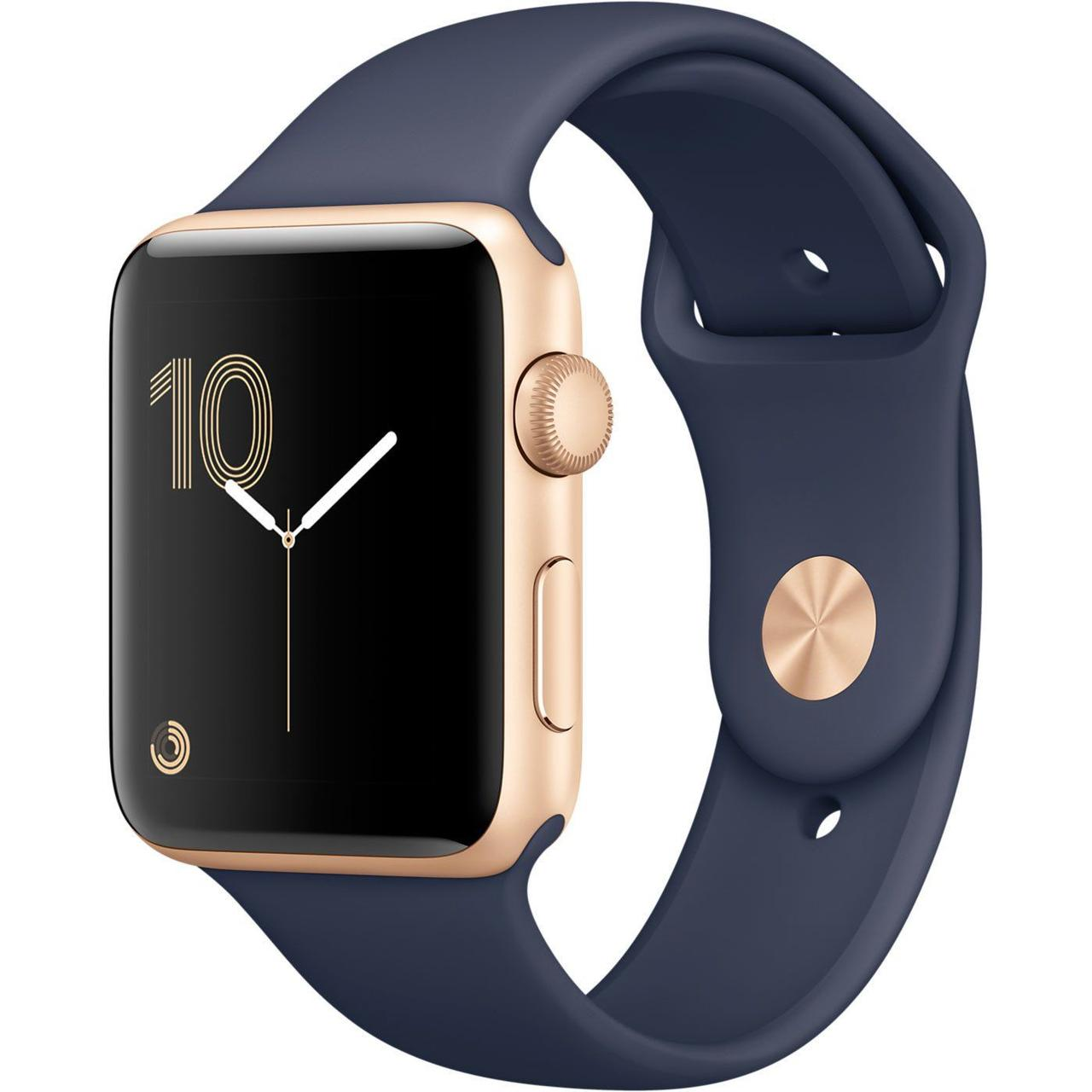 Apple Watch Series 2 42 mm Gold Aluminium Case with Midnight Blue Sport Band (MQ152)
