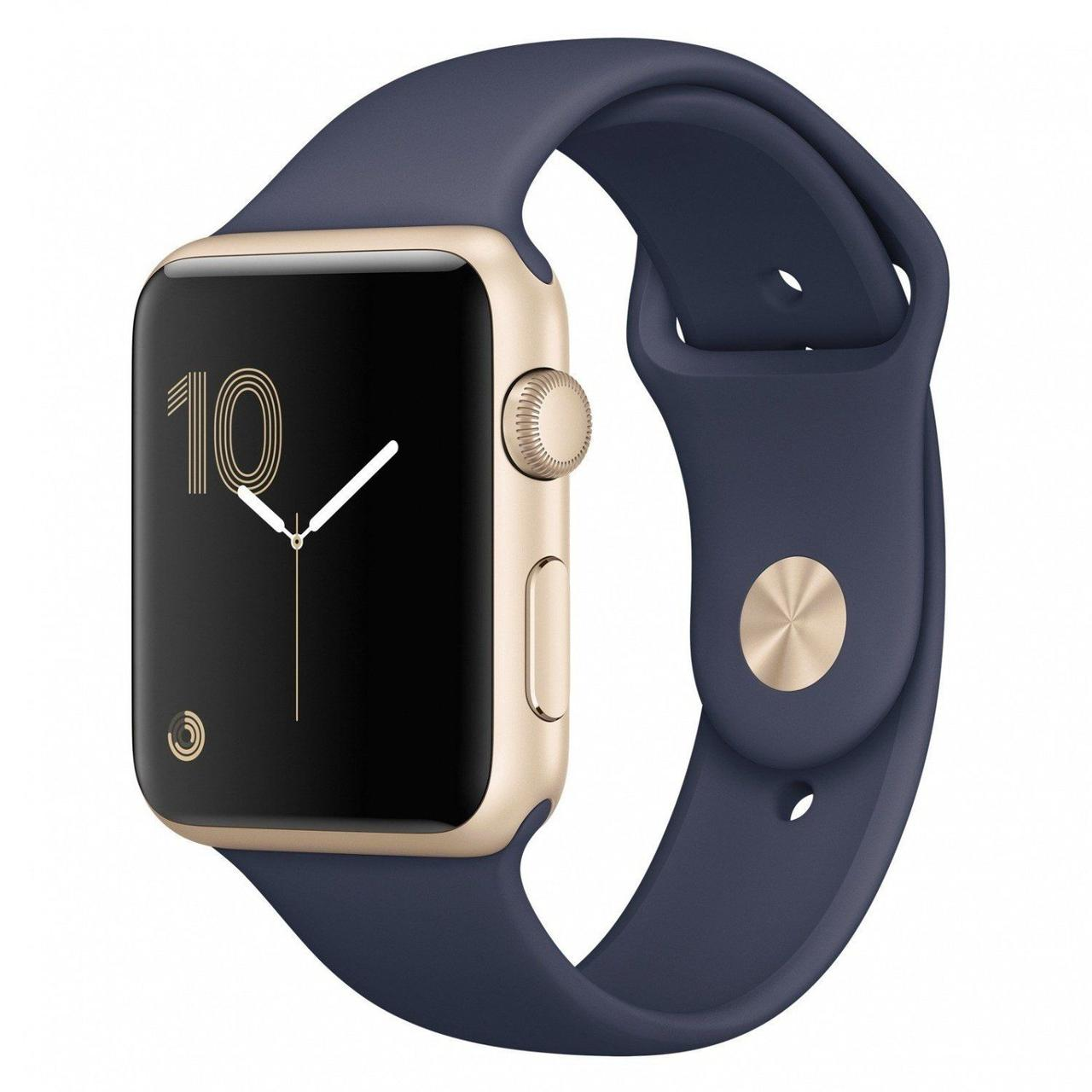 Apple Watch Series 2 38 mm Gold Aluminium with Midnight Blue Sport Band (MQ132)