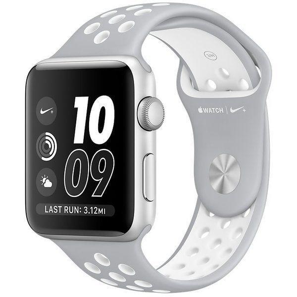 Apple Watch Nike+ Series 2 38 mm Silver Aluminium with Flat Silver/White Nike Sport Band (MNNQ2)