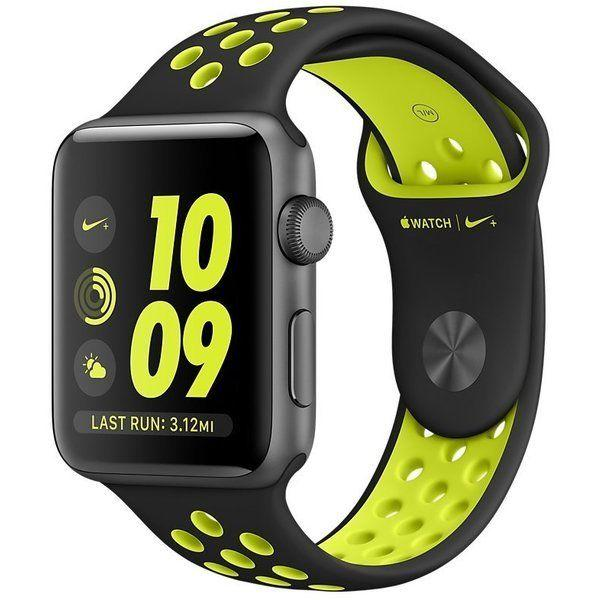 Apple Watch Nike+ Series 2 42 mm Space Gray Aluminium with Black/Volt Nike Sport Band (MP0A2)