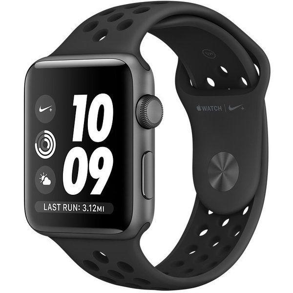 Apple Watch Nike+ Series 2 42 mm Space Gray Aluminium with Pure Anthracite/Black Nike Sport Band (MQ182)