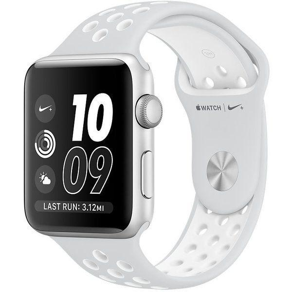 Apple Watch Nike+ Series 2 42 mm Silver Aluminium with Pure Platinum/White Nike Sport Band (MQ192)
