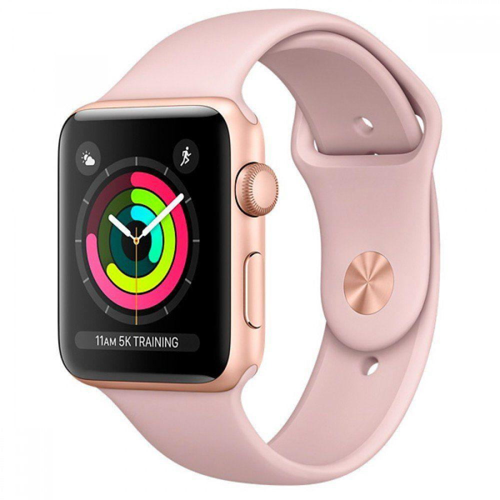 Apple Watch Series 3 GPS 38mm Gold Aluminum Case with Pink Sand Sport Band (MQKW2)