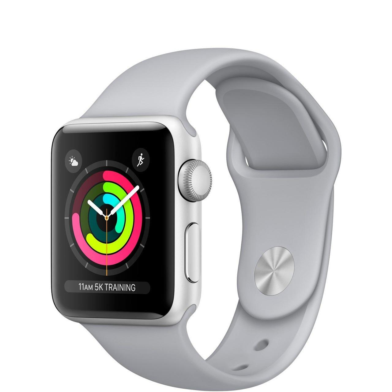 Apple Watch Series 3 GPS 38mm Silver Aluminum Case with Fog Sport Band (MQKU2)