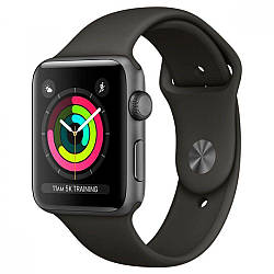 Apple Watch Series 3 GPS 42mm Space Gray Aluminum with Gray Sport Band (MR362)