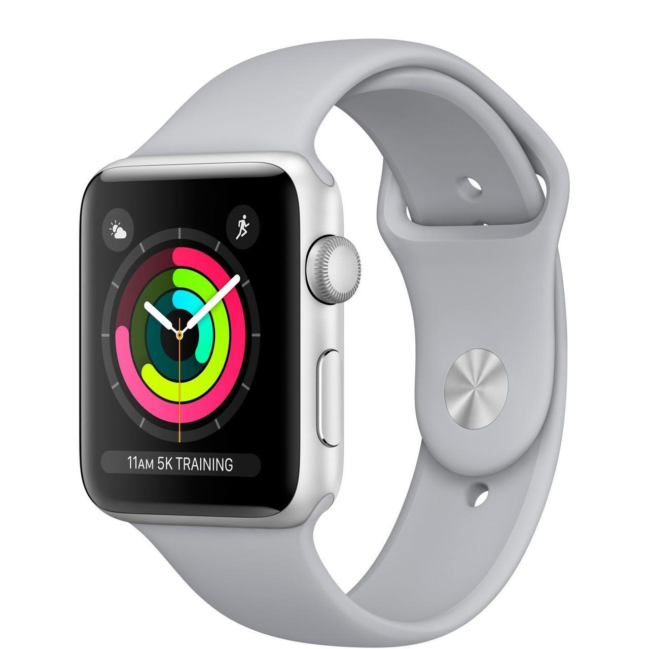 Apple Watch Series 3 GPS 42mm Silver Aluminum Case with Fog Sport Band (MQL02)