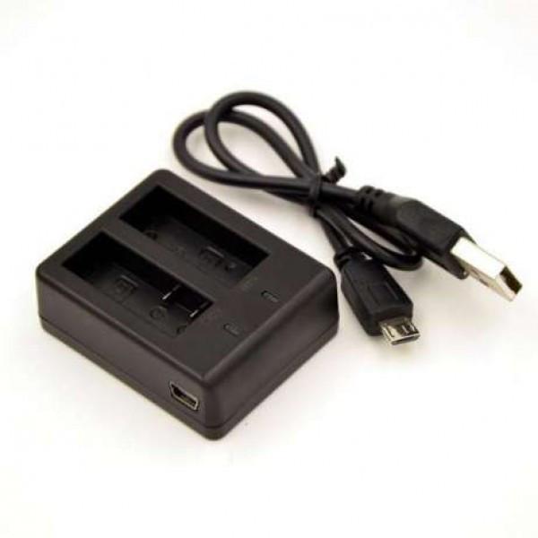 Универсальное зарядное устройство для экшн камер на 2 аккумулятора