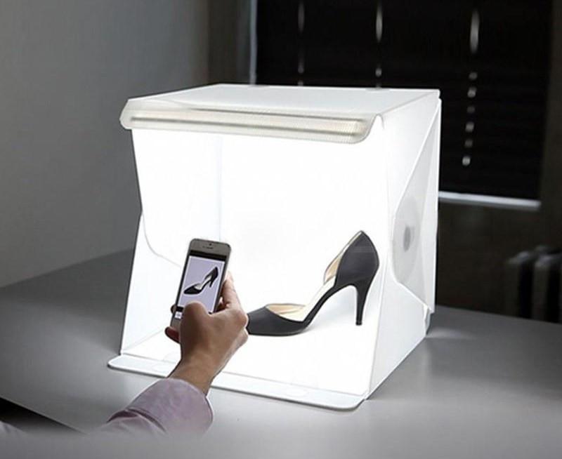 Photobox, Лайтбокс з LED Підсвічуванням для Предметної Зйомки 30х32х30см