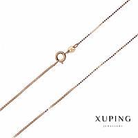 Цепочка Xuping плетение Квадрат L-45см s-1,2мм цвет золото