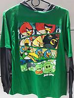 Реглан Детский Disney Angry Bird с Длинным рукавом Трикотажный Оригинал Рост 145 см