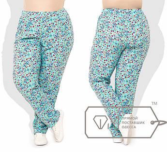 Ментоловые брюки супер батал