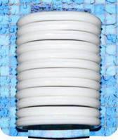 Набір пластикових кілець для штор у ванну 12шт. білі ( 30017 )