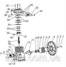 Шатун компрессора, Aircast LH20-3, запчасти, Remeza