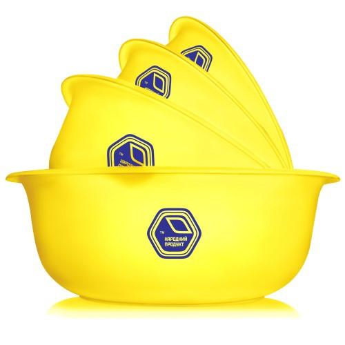 Набір мисок 0,7л. + 1,5л. + 2л. + 3л. жовтий (арт. 74ж)