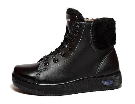 Зимові черевики жіночі утеплені ботинки, фото 2