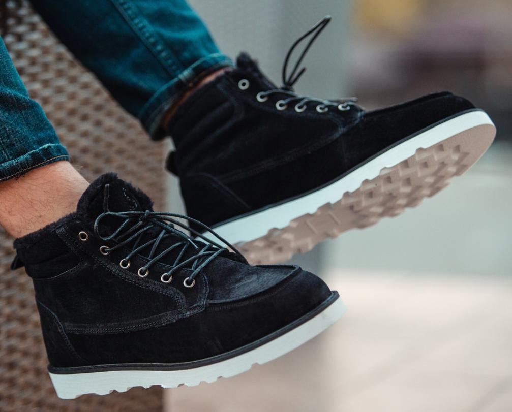 Ботинки Мужские Зимние South indigo black чёрные, оригинал