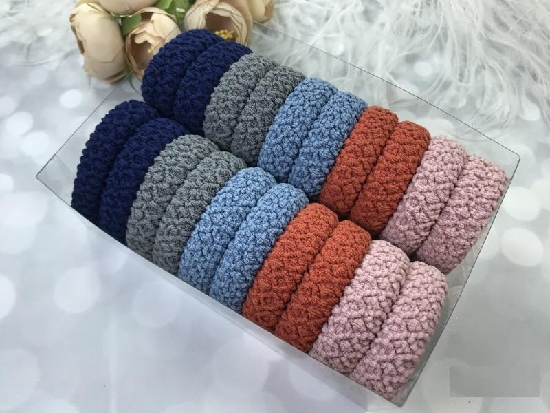 Набор больших резинок для волос 5-ти цветов, 20 штук