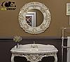 Зеркало в ванную Buenos Aires в белой с золотой патиной раме, фото 2