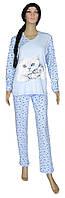 Пижама женская трикотажная 18208 Kittens Blue интерлок, р.р.42-52