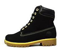 Черные зимние женские кожаные ботинки TIMBERLAND на меху ( шерсть ) 1fe80c6aafc0a