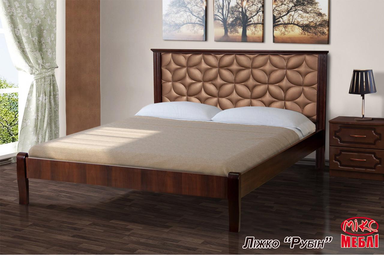 Кровать Рубин (1,6 м.) (темный орех) (Клен)