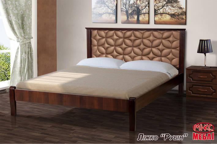 Кровать Рубин 1,60 м. (Темный Орех), фото 2